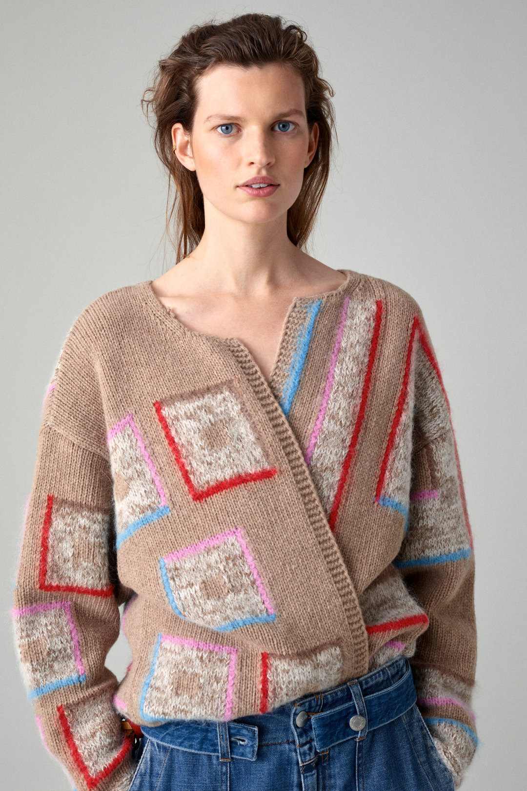 closed open front cardigan