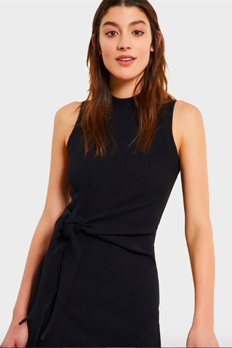 kinly ribbed dress closeup