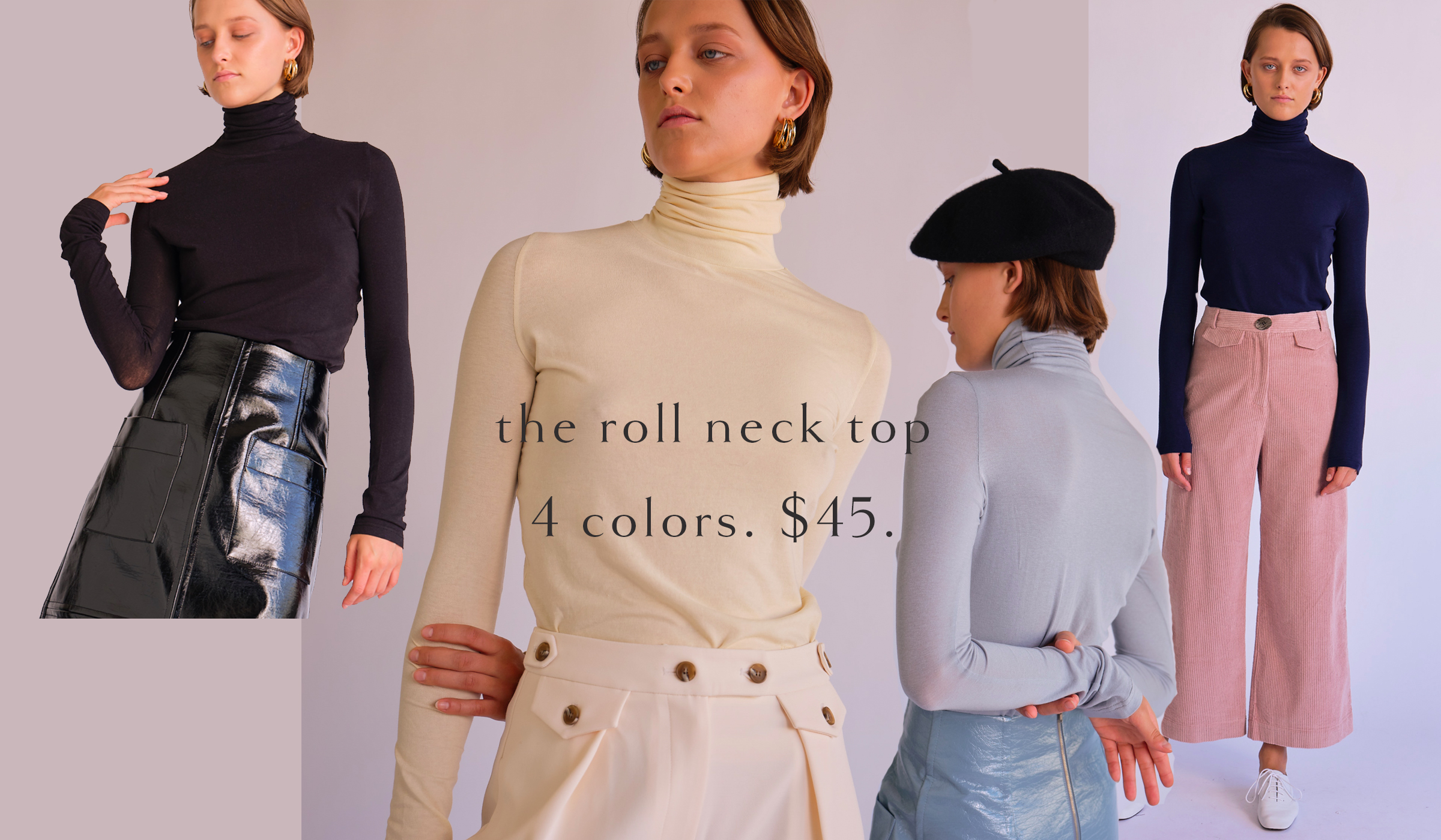 roll neck tops