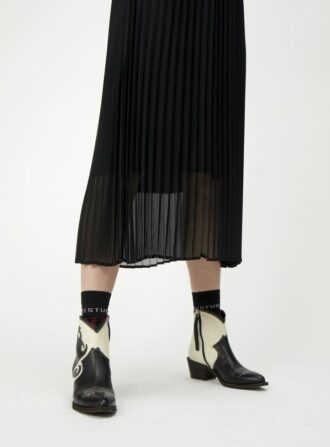 just female pleated black skirt