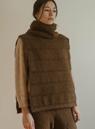 wolhide brown poncho