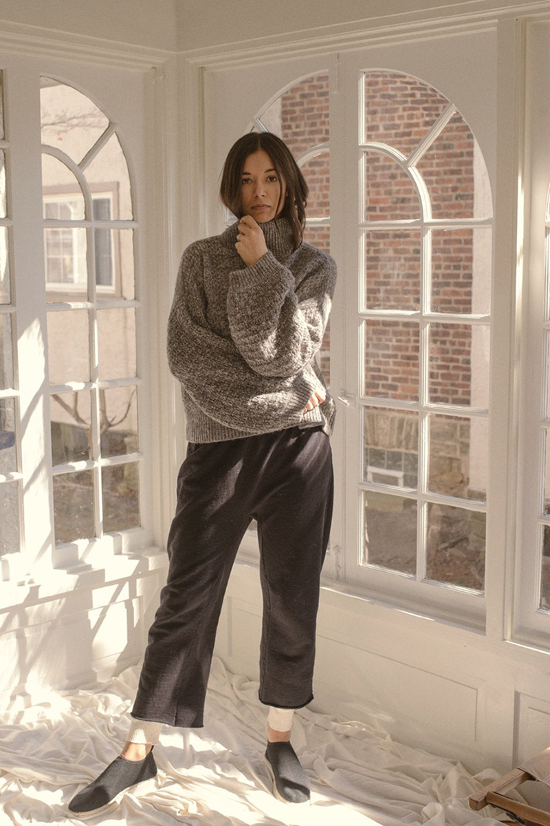 wolhide tulip slv sweater and easy pant