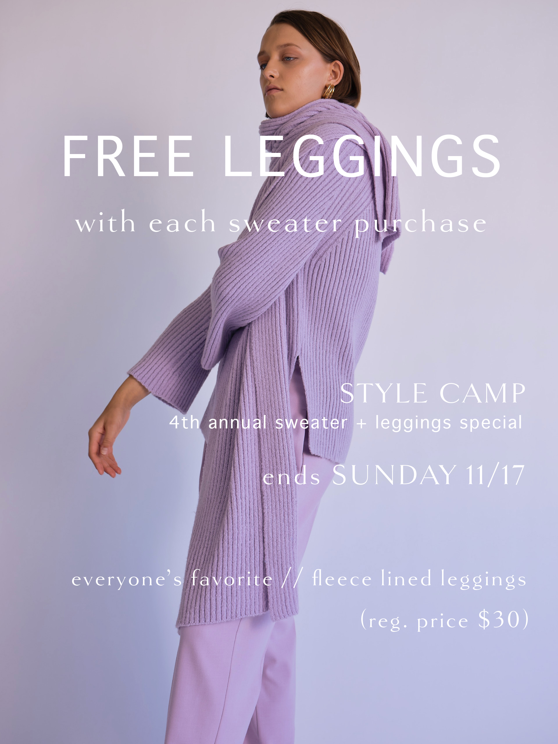 free leggings weekend
