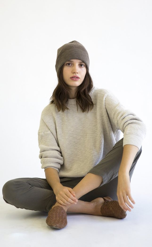 it is well knit beanie brown
