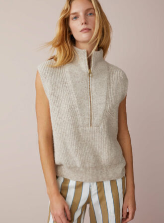 closed slvless sweater