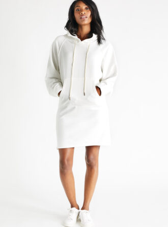 etica white sweatshirt dress