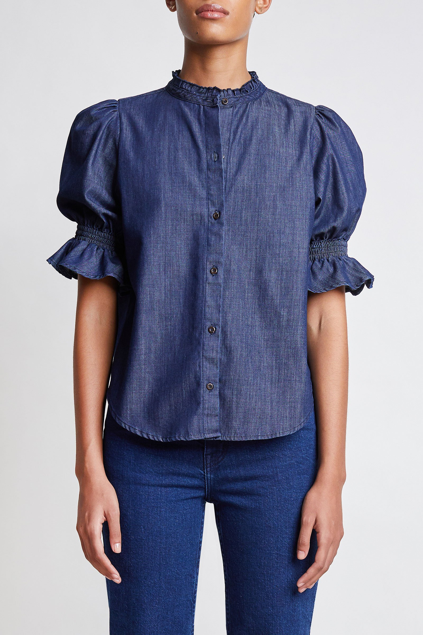 apiece apart denim shirt