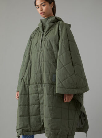 closed padded cape
