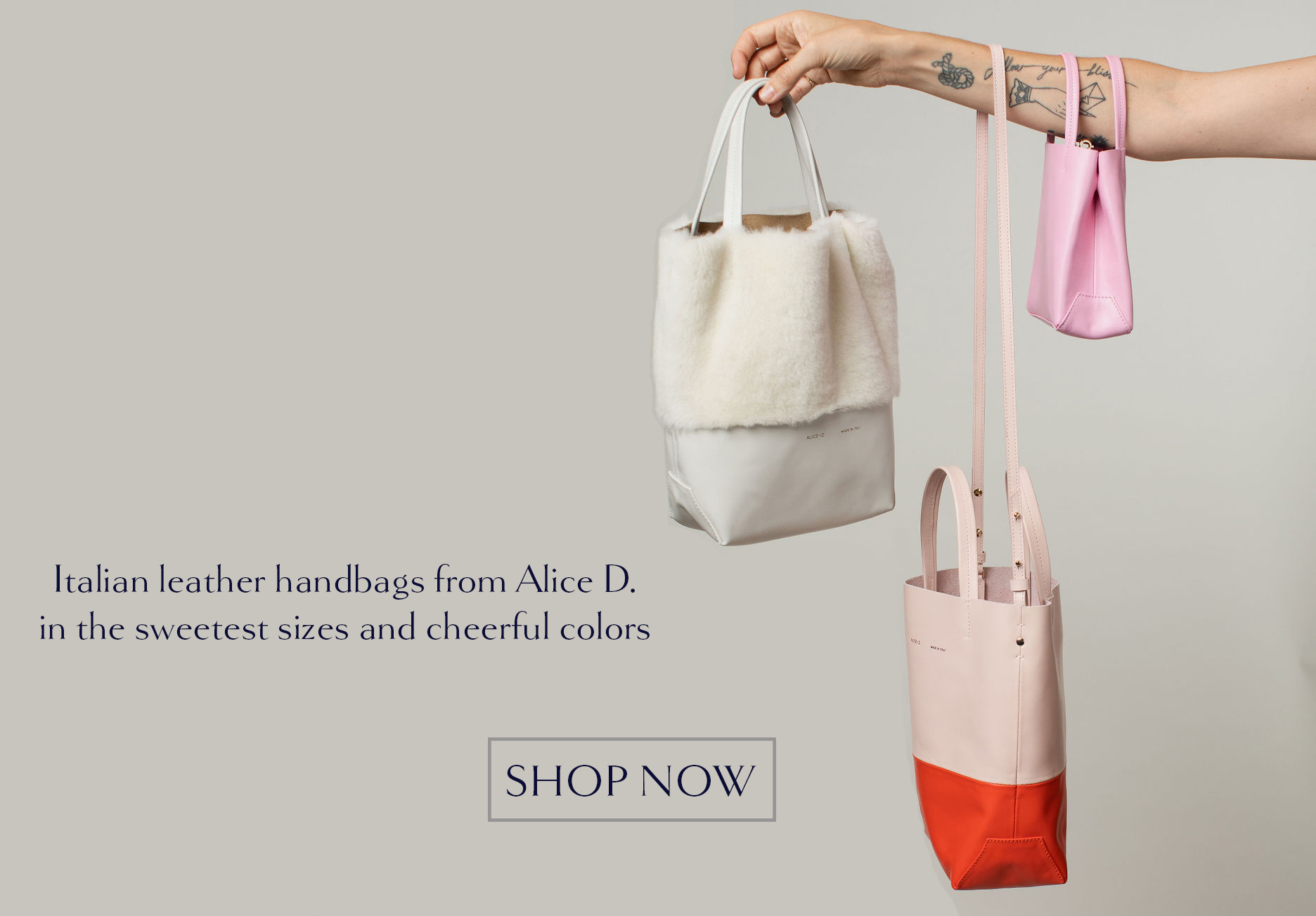alice d fur and leather bag