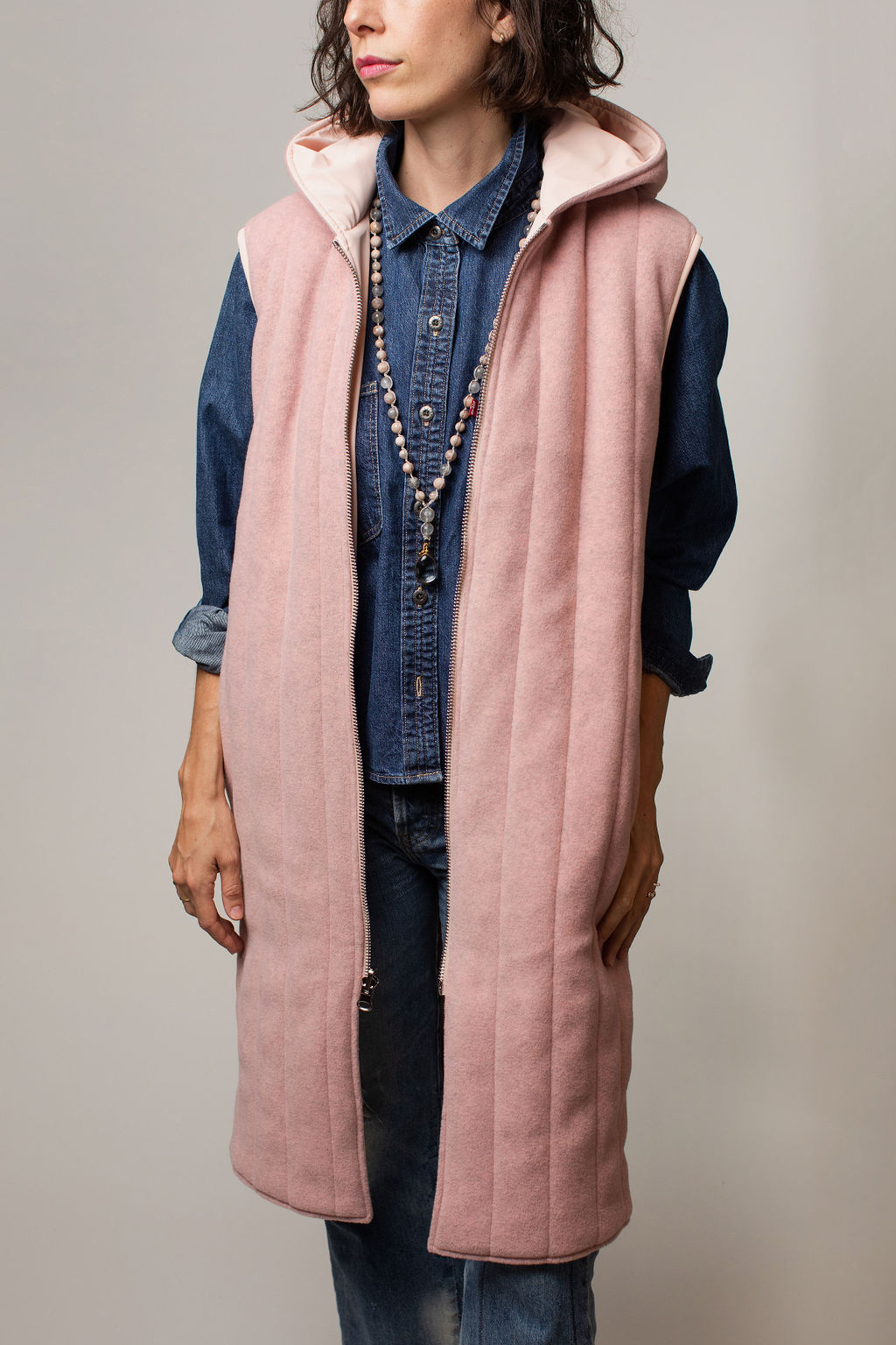 levis pink vest and necklace main