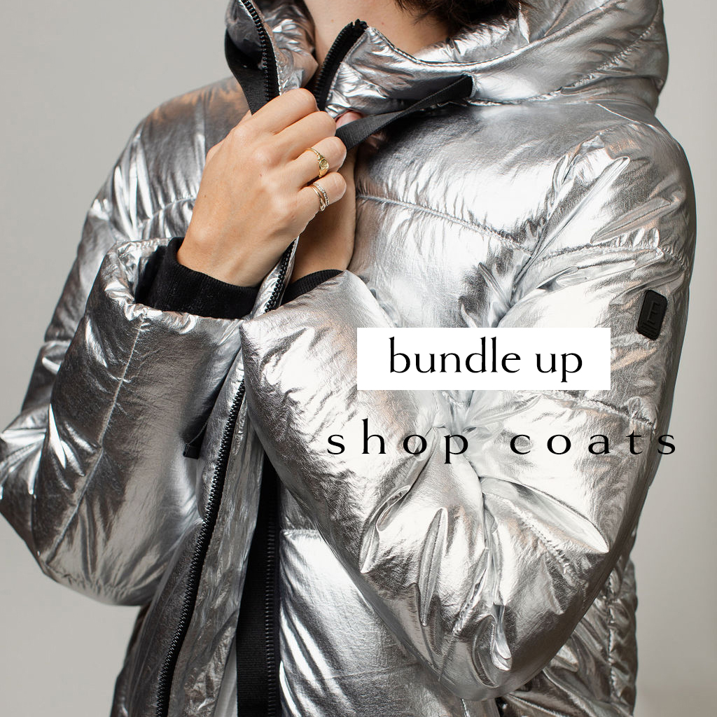 FRONT silver puffy coat
