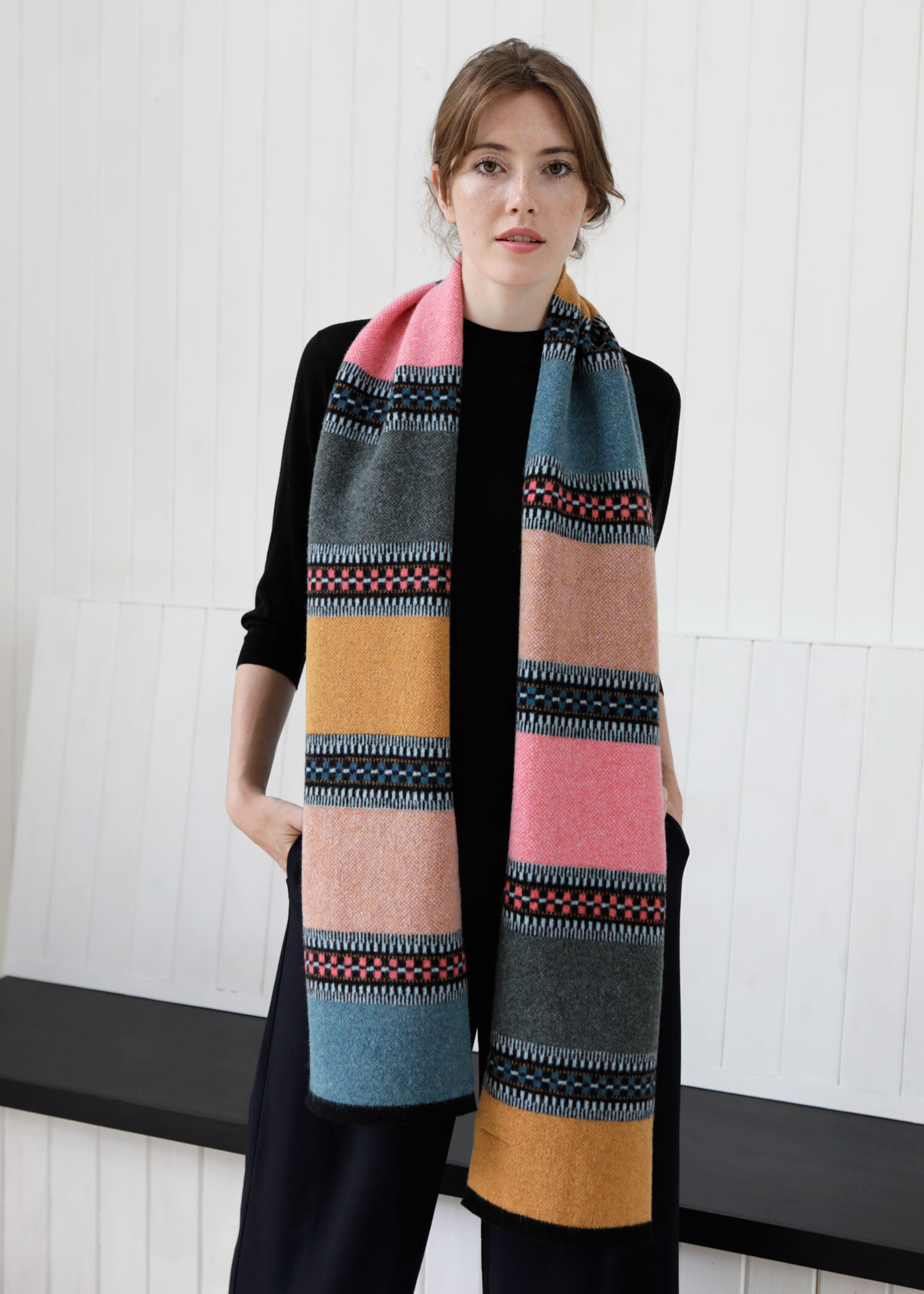 scarf sunset color
