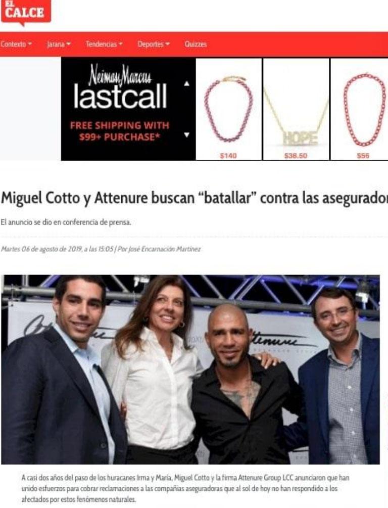Miguel Cotto y Attenure buscan batallar contra las aseguradoras copy