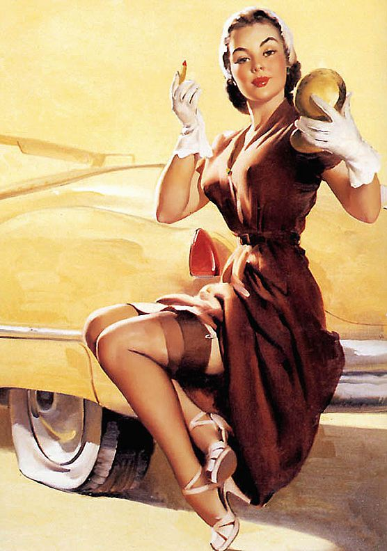 50s pin up car heels