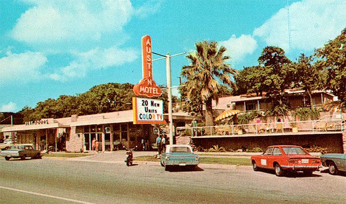 austin motel vintage photo 1950s