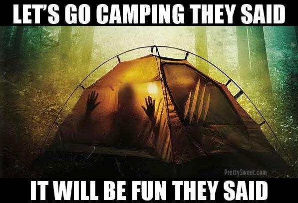 hate camping meme