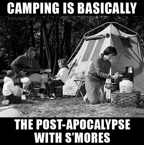 camping meme apocalypse funny