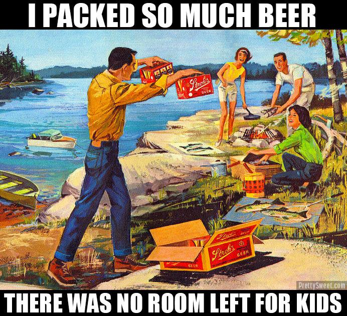 camping no kids funny meme