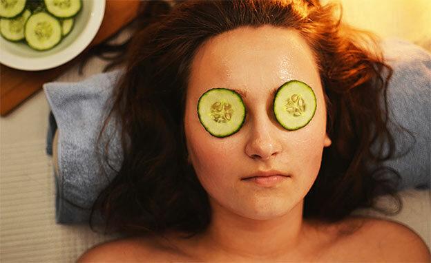 cucumber mask woman