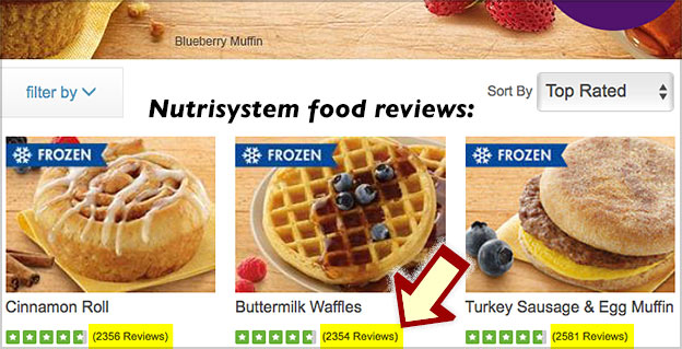 food reviews nutrisystem