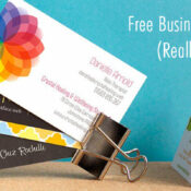 free business cards promo vistaprint