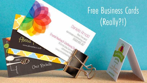 free business cards promo vistaprint
