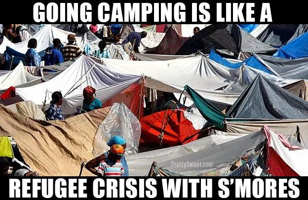 funny camping meme homeless