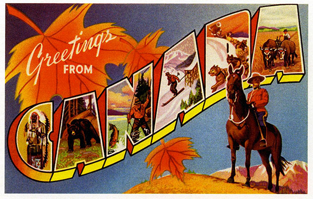 greetings from canada postcard