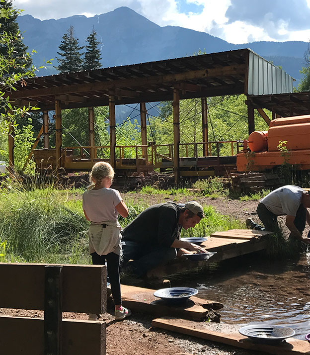 Panning for Gold at Bachelor-Syracuse Mine
