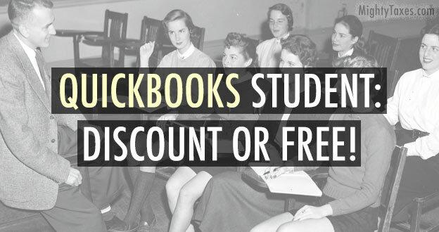 quickbooks student discount free