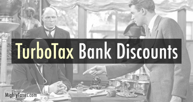 turbotax bank america chase discount