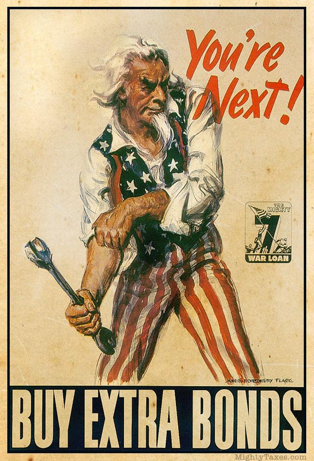 uncle Sam buy bonds poster