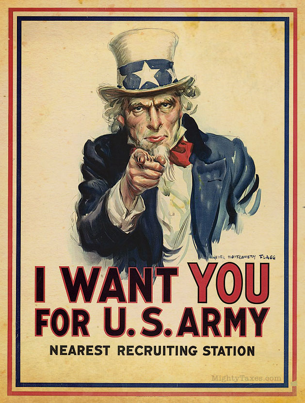 uncle sam i want you wwi poster large