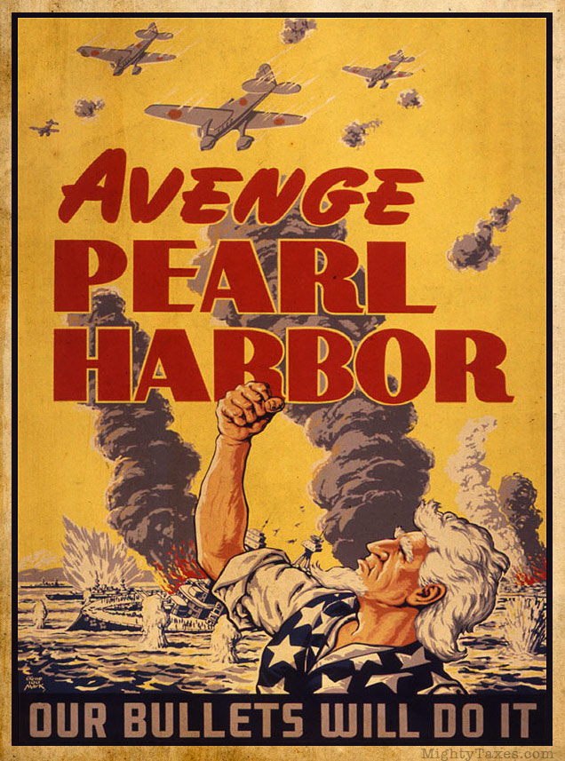 avenge pearl harbor uncle sam poster wwii