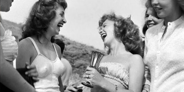 vintage laughing women
