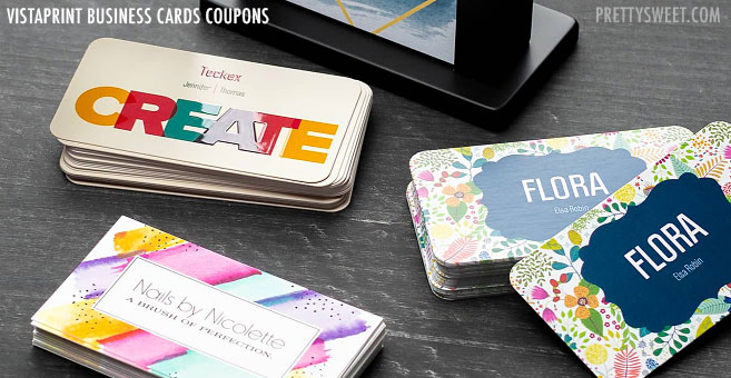 coupons business cards vistaprint