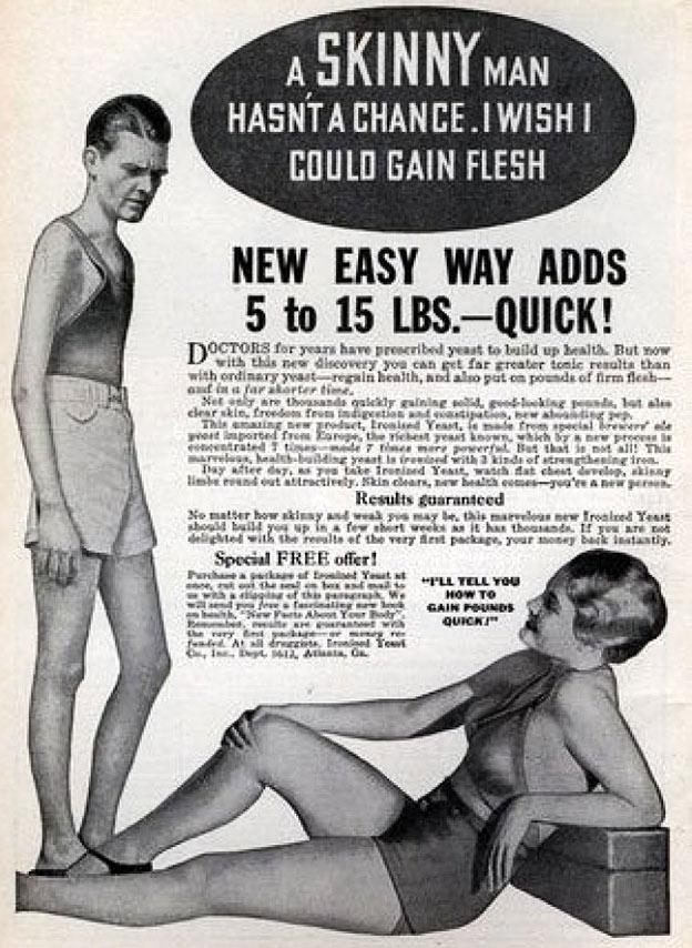 weight gain men vintage advert