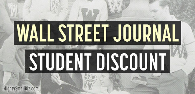 wsj student discount