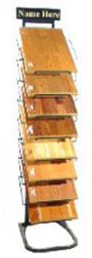 Hardwood Sample Display Rack