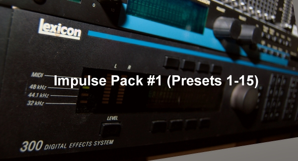 Lexicon M300 Impulse sets.