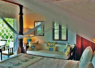 Balcony room bed