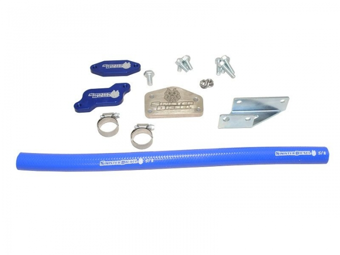 Sinister Diesel EGR Cooler Kit for GM Duramax 2004.5-2005 6.6L LLY w//High Flow Intake Tube