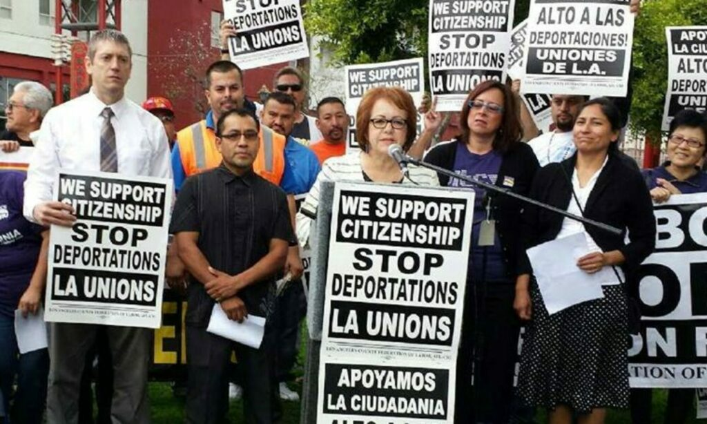 2014- Fighting the deportation of union brother Ramon Mendez.