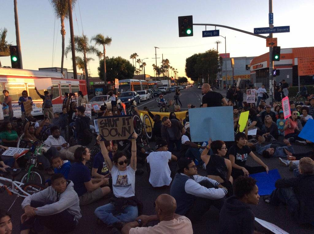 March down MLK to LAPD HQ.  Led by Coalition for Community Control Over the Police.