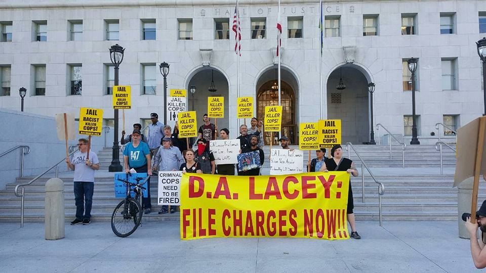 2015- Led movement against D.A. Lacey.