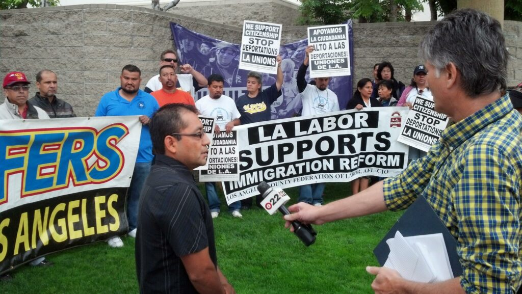 Legalization for immigrant workers!