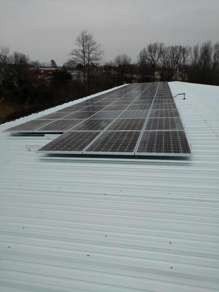 Commercial solar energy pv system array metal roof Taylors, SC Greenville County