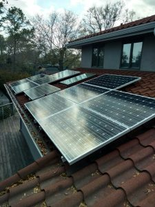 residential solar energy pv array system tile roof
