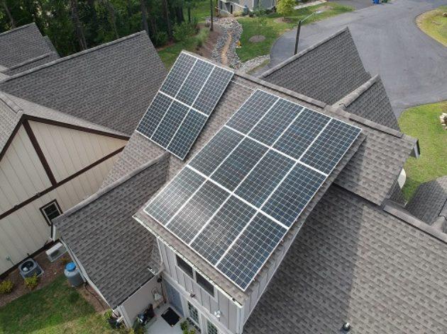 Haw Creek Residence solar panels array Buncome County