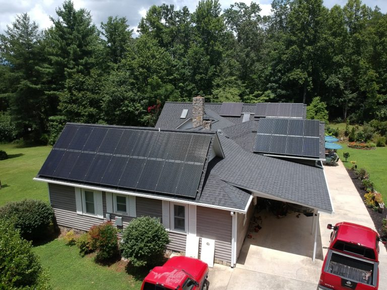 Old Fort, NC residential solar panels with battery McDowell County